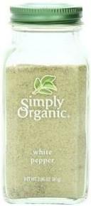 White Pepper, 6 of 2.86 OZ, Simply Organic