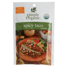 Taco, Spicy, 12 of 1.13 OZ, Simply Organic