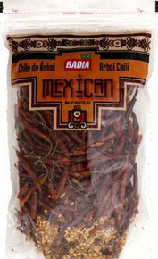Chili Pods, Arbol, 12 of 3 OZ, Badia Spices