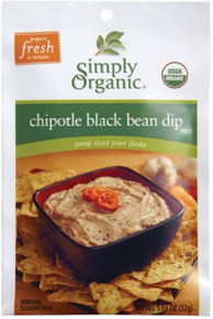 Black Bean Dip, 12 of 1.13 OZ, Simply Organic
