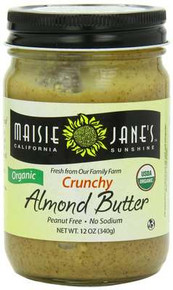 Almond, Crunchy, 12 of 12 OZ, Maisie Jane'S