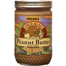 Peanut Butter Crunchy No Salt, 12 of 16 OZ, Once Again