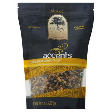 Accents, Sprouted Lentil Trio, 6 of 8 OZ, Tru'Roots