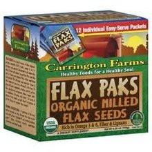 Milled Flax Seeds, 72 of  0.42 OZ, Carrington Farms