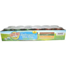 Delicious Din Din Variety Pack, 1 of 12 of 4 OZ, Earth'S Best Baby Foods