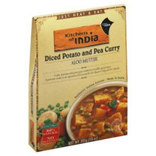 Aloo Mutter, Diced Pot & Pea Curry, 6 of 10 OZ, Kitchen Of India