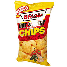 Orchids Hot & Spicy Shrimp Chips  From Orchids