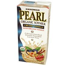 Organic Soymilk Creamy Vanilla 32 oz  From Kikkoman