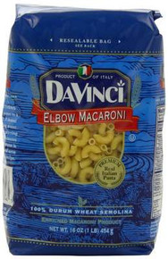 Elbow Macaroni, 12 of 1 LB, Da Vinci