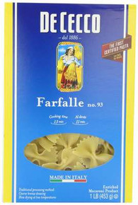Farfalle No.93, 20 of 16 OZ, Dececco