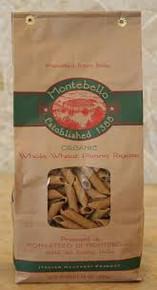 Penne Rigate, Whole Wheat, 12 of 1 LB, Montebello