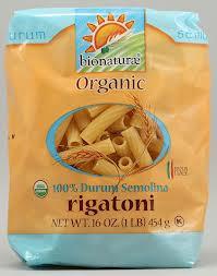 Rigatoni, 12 of 16 OZ, Bionaturae