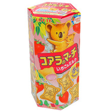 Lotte Strawberry Filled Koala Biscuits 1.69 oz  From Lotte