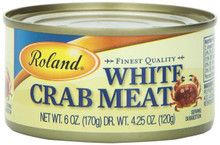 Crabmeat White, 6 OZ, Roland