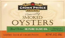 Oysters, Smoked In Olive Oil, 18 of 3 OZ, Crown Prince