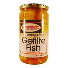 Gefilte Fish, Premium Gold, Jelled, 12 of 24 OZ, Manischewitz
