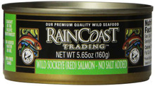 Sockeye, No Salt Added, 12 of 5.65 OZ, Raincoast Trading