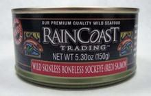 Sockeye, Skinless, Boneless, 12 of 5.3 OZ, Raincoast Trading