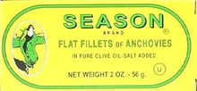 Anchovies, Flat, 25 of 2 OZ, Seasons