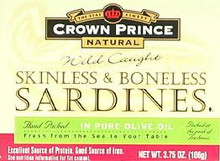In Olive Oil, Skinless & Boneless, 12 of 3.75 OZ, Crown Prince