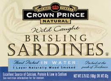 In Water, Brisling , 12 of 3.75 OZ, Crown Prince