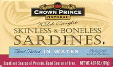 In Water, Skinless & Boneless, 12 of 4.37 OZ, Crown Prince