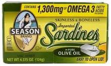 Sardines, Skinless/Boneless Club, 25 of 4.38 OZ, Seasons