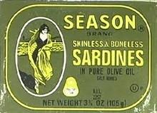 Sardines, Skinless/Boneless In Olive Oil, 25 of 3.75 OZ, Seasons