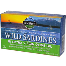 Wild Sardines in EVOO, 12 of 4.375 OZ, Wild Planet