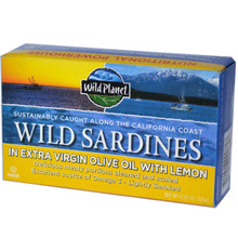 Wild Sardines in Oil & Lemon, 12 of 4.375 OZ, Wild Planet