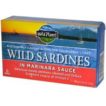 Wild Sardines in Marinara Sauce, 12 of 4.375 OZ, Wild Planet