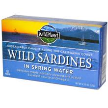 Wild Sardines in Spring Water, 12 of 4.375 OZ, Wild Planet