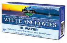 Wild Anchovies In Water, White, 12 of 4.375 OZ, Wild Planet
