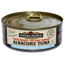 Albacore, No Salt, 12 of 5 OZ, Crown Prince