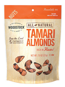 Almonds, Tamari, 8 of 7.5 OZ, Woodstock