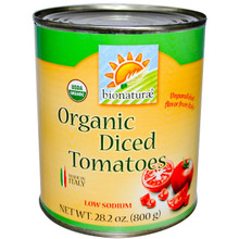 Diced Tomatoes, 12 of 28.2 OZ, Bionaturae