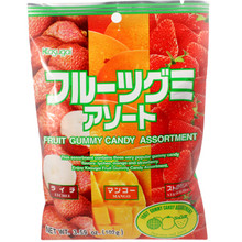 Kasugai Fruit Assortment Gummy 3.59 oz  From Kasugai