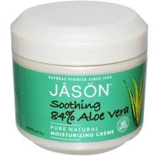 Aloe Vera 84% Creme w/Vitamin E, 4 OZ, Jason Natural Cosmetics