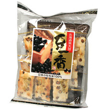 Roasted Black Soy Bean Rice Crackers 4.1 oz  From Okaki