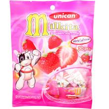 Unican Milkita Strawberry Milk Candy 3.20 oz  From Milkita