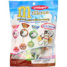Unican Milkita Assorted Milk Lollipop 4.76 oz  From Milkita