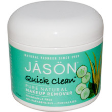 Quick Clean Non Oily Makeup Remover, 75 PAD, Jason Natural Cosmetics