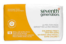 Ultra-Thin Pads, Regular w/ Wings, 12 of 18 CT, Seventh Generation