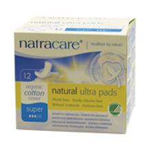Ultra Pad w/Wings, Super, 12 of 12 CT, Natracare