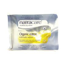 Cotton Intimate Wipes, 12 of 12 CT, Natracare