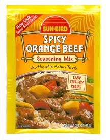 Sun Bird Spicy Orange Beef  From Sun Bird