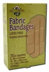 Bandages, Fabric, Assorted, 30 CT, All Terrain