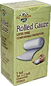 Gauze, Rolled, 3 Inch, 2.5 YD, All Terrain