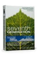 Auto Dishwash Pwdr, Free & Clear, 12 of 45 OZ, Seventh Generation