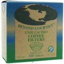 Coffee Filters, Unbleached Basket, 12 of 100 CT, Beyond Gourmet